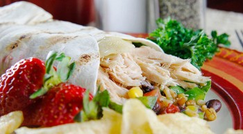 Fiesta Chicken Wrap
