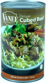 CUBED BEEF IN BROTH