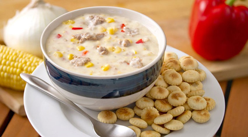 Sweet Georgia Sausage Chowder