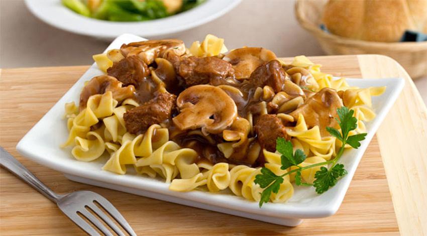 Beef and Mushroom Pasta